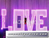 ALQUILER DE LETRAS LOVE EN LED EN GUAYQUIL