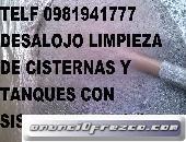 LIMPIEZA DE CISTERNAS Y CONTROL DE PLAGAS TELF 0987058464