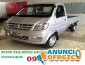 OFRECEMOS SERVICIO DE FLETE EN GUAYAQUIL CAMIONETA PEQUEÑAS MUDANZAS 0963853506