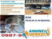 CURSO REFRIGERACION GUAYAQUIL APRENDE REPARACION DE NEVERA SPLIT  CONGELADOR VENTANA 0987994662
